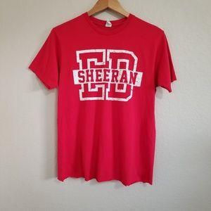 Ed Sheeran 2013 US Concert Tour T Shirt Medium